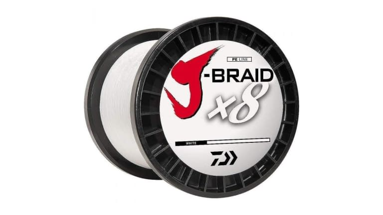 Daiwa J Braid 8 Strand 3300yd Spools - JB8U120-3000WH